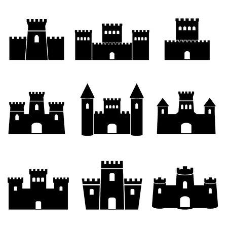 Castle Icons Illustration
