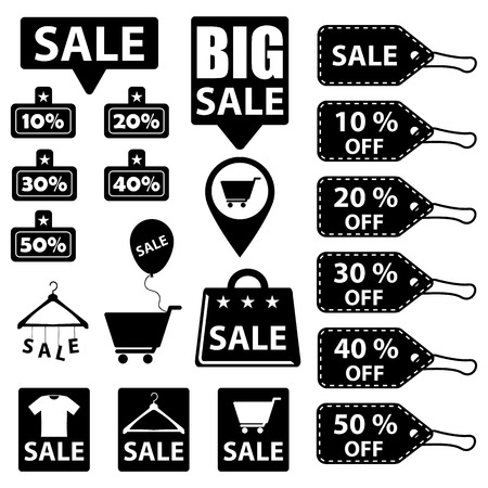 sale icons: Sale Discount Icons Illustration