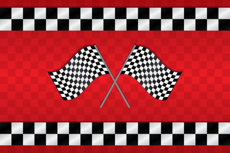 bandera carrera: Cruzada competir con a cuadros Banderas Antecedentes Vectores
