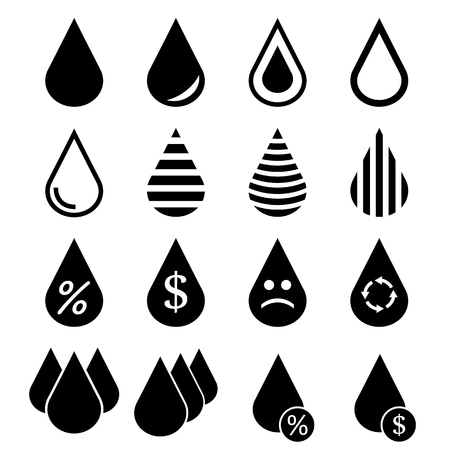 teardrop: Water Drop Icons Illustration
