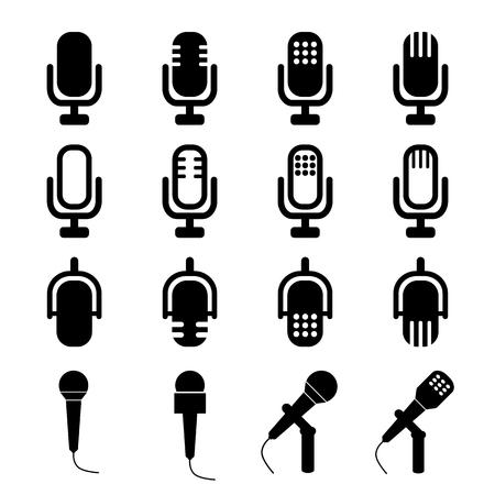 microfono de radio: Micrófonos Signos Vectores