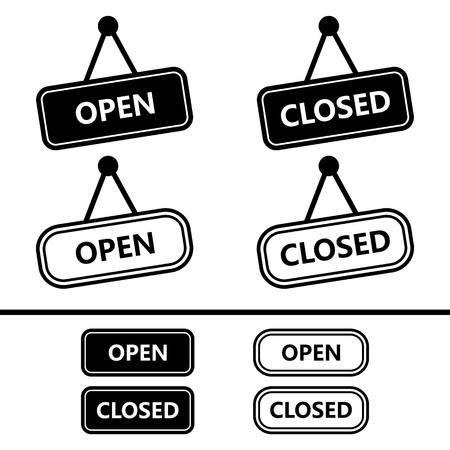 open sign: Open Closed Sign Icons