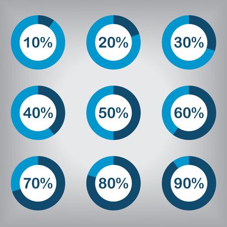 Circle Diagram Pie Charts Infographic Elements 矢量图像