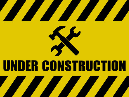 warning signs: Under Construction Background
