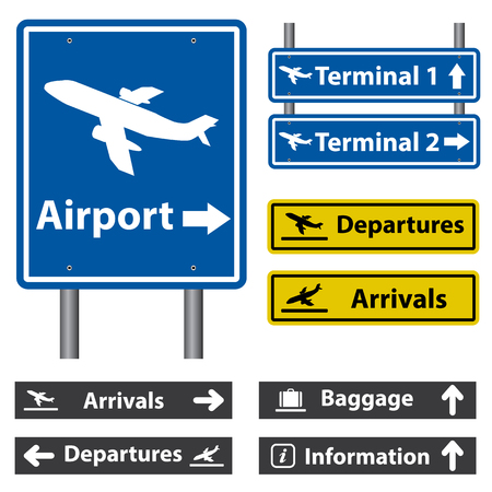 information international: Airport Signs Illustration