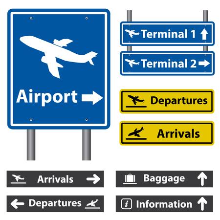Tekens van de luchthaven Stock Illustratie