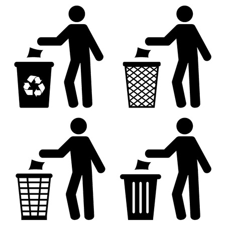 papelera de reciclaje: Basura Reciclaje de basura Tirar basura S�mbolo