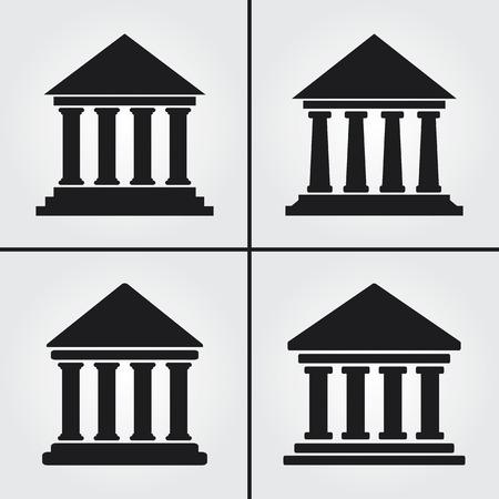 銀行大学博物館アイコン  イラスト・ベクター素材