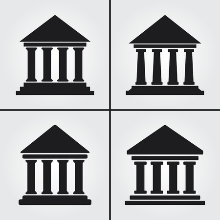 government: Bank University Museum Icons