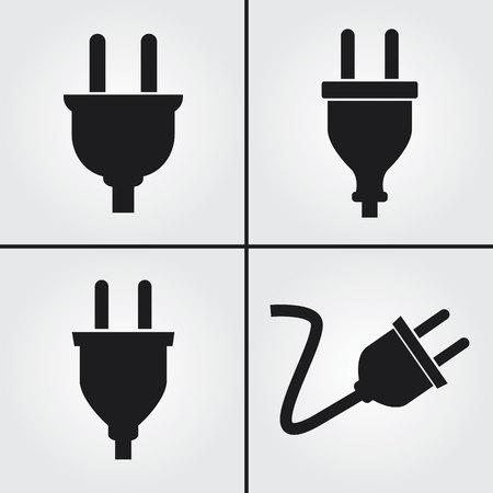 energia electrica: Enchufe eléctrico Iconos Vectores