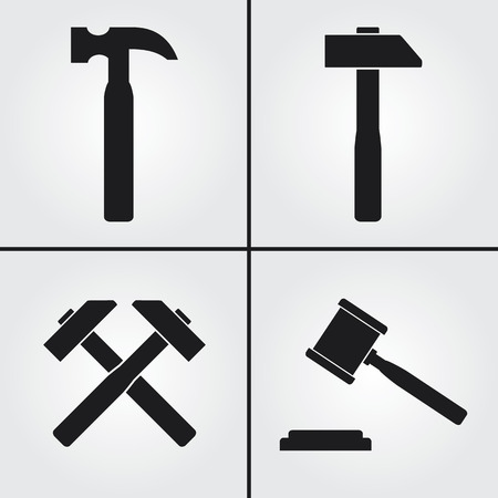 judge hammer: Hammer Icons