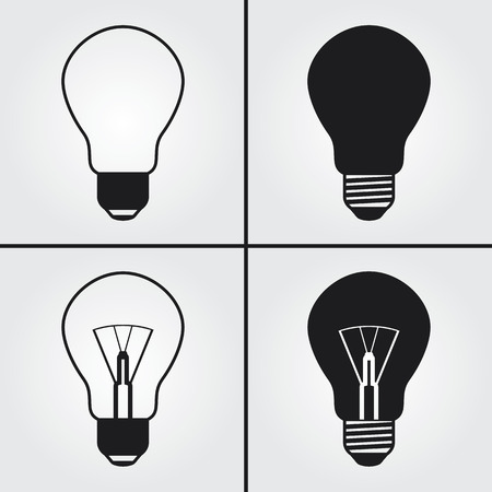 fluorescent lights: Light Bulb Icons