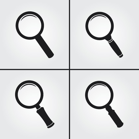magnifier glass: Magnifier Glass Icons Illustration