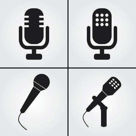 old radio: Microphone Icons