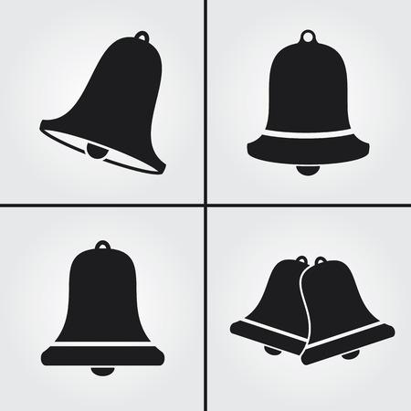 Iconos de Bell Ilustración de vector