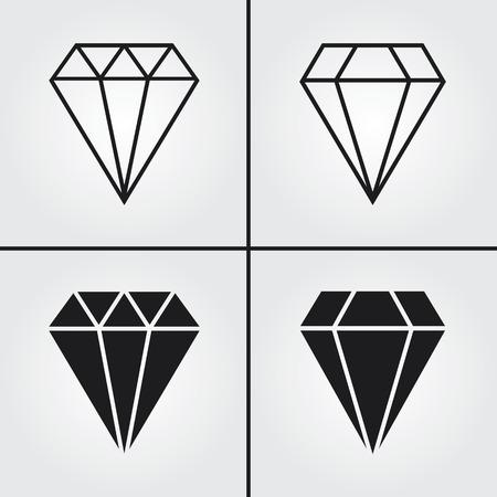 spoil: Diamond Icons Illustration