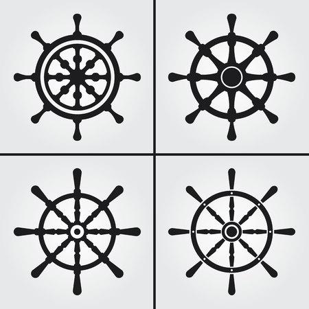 sail: Rudder Icons Illustration