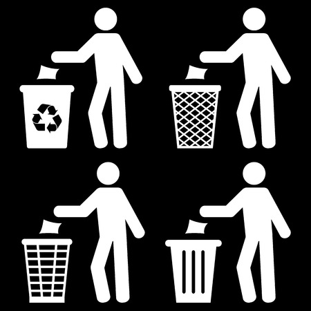 botar basura: Basura Reciclaje de basura Tirar basura Símbolo