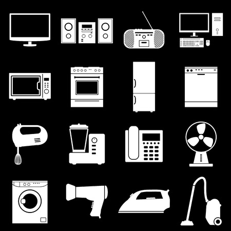 appliance: House Appliance Icons Set