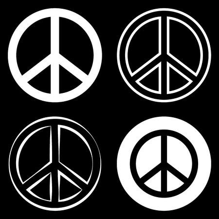 symbol of peace: Peace Sign Symbol Illustration
