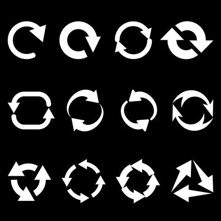 Recargar refrescar rotación de las flechas fijados Ilustración de vector