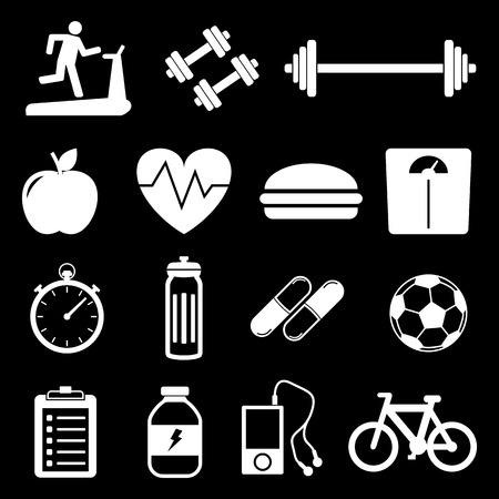 icons: Fitness Icons Illustration