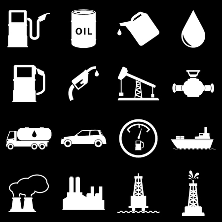 flaring: Oil Icons Set