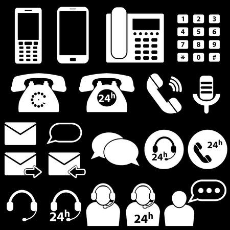 telephone icons: Telephone and Communication Icons