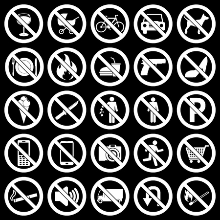 no heels: Prohibited Signs