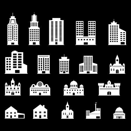 headquarters: Building icons set