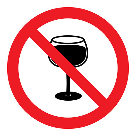 not permitted: No Alcohol Ban Sign Illustration
