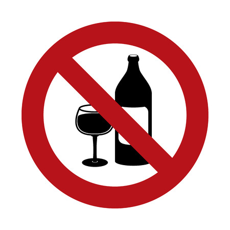 ban sign: No Alcohol Ban Sign Illustration
