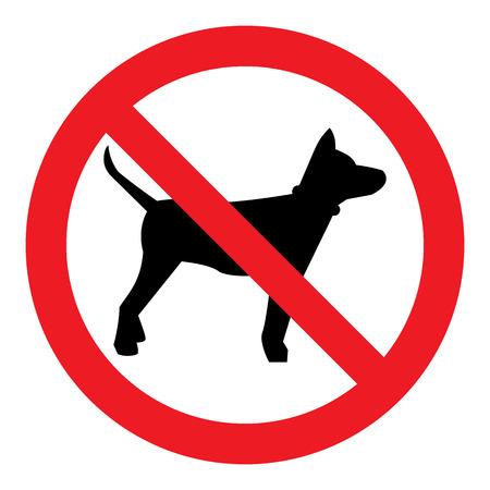 Geen Dog Sign Stock Illustratie