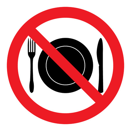 posted: No Eating Sign