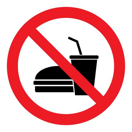 No Food Sign 矢量图像