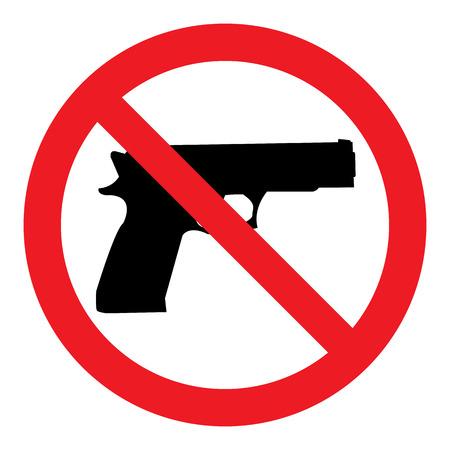 No Gun Sign Ilustrace