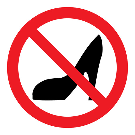 high: No High Heels Sign Illustration