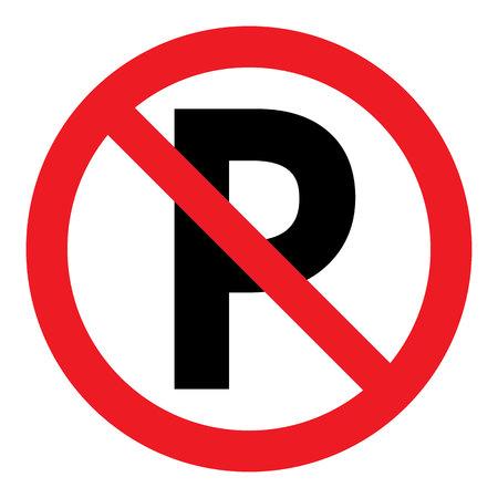 no parking sign: No Parking SIgn Illustration