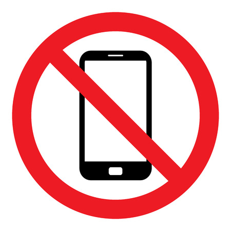 phone receiver: No Cell Phone Sign