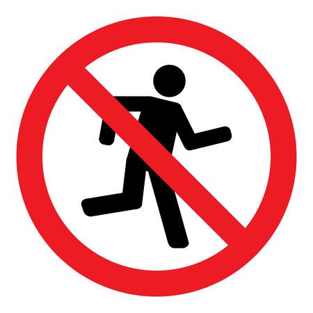 Geen Run Sign Stock Illustratie
