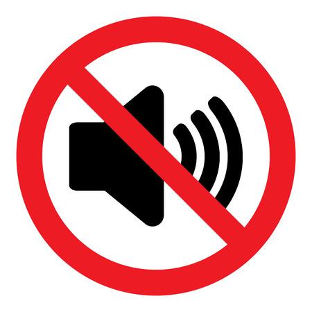 Geen geluid Sign Stock Illustratie