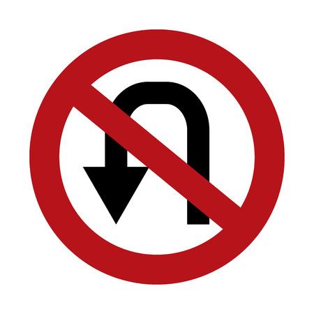 disallow: No U Turn Illustration