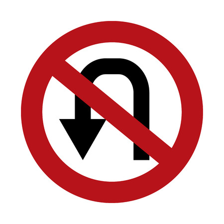 No U Turn Illustration