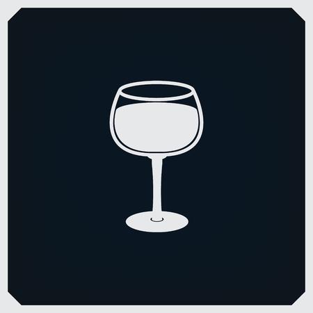 champagne orange: Drink Glass Icon