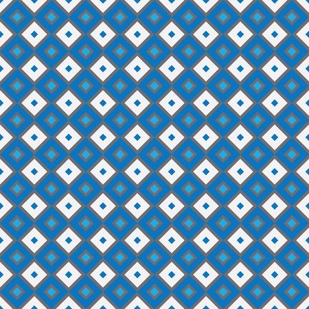 seamless pattern: Blue Square Seamless Pattern
