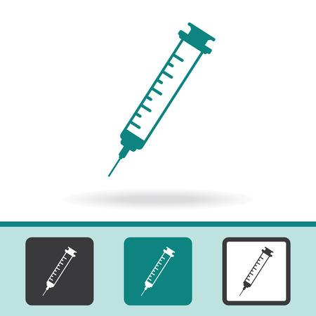 an injector: Syringe Icon Illustration