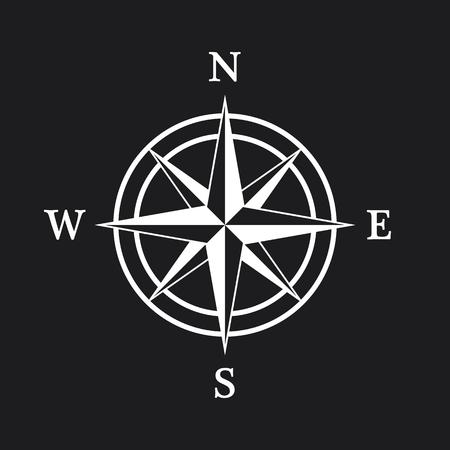 rosa de los vientos: Icono de Compass Vectores