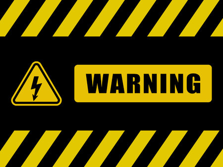 Warning Sign Background. Black and Yellow Board Illustration