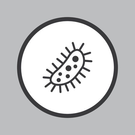 contaminant: Bacteria icon in white circle on grey background