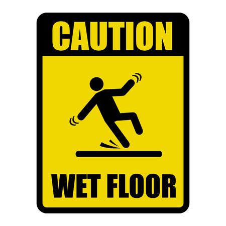 Suelo mojado de la precaución señal de peligro